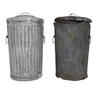 x garbage cans object