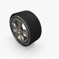3d model of wheel
