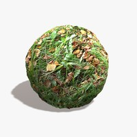 Fall Leaves Grass Seamless Texture