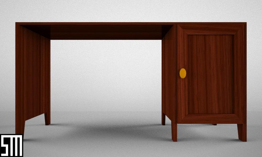 Free desk 3d model for Schreibtisch 3d modell