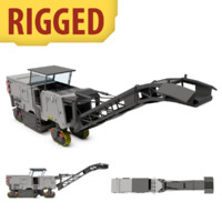 rigged asphalt milling machine 3d model