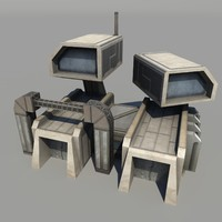 obj sci-fi barracks polys
