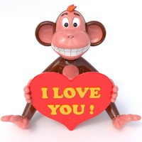 3d model of monkey love