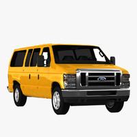 econoline wagon 3d max