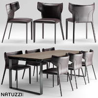 3d model of table natuzzi pi