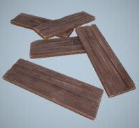 stylized wooden planks 3d model