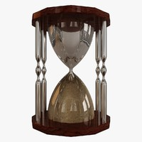 hourglass hour glass 3d max