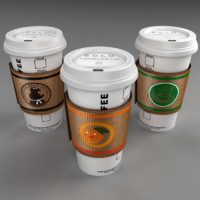 coffee cup 3d blend