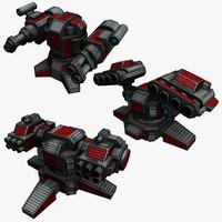 3 Sci-Fi Rocket Launchers