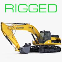 generic crawler excavator rigged max