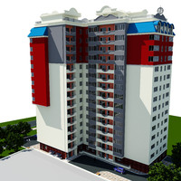 residential building city obj