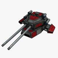 3d model turret sci-fi