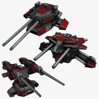 max 3 sci-fi turrets