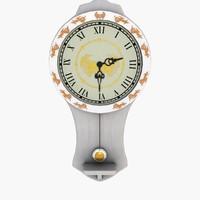 3d model pendulum clock