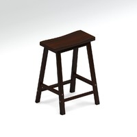3d lacquered wooden stool bar