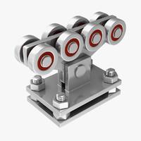 automatic gates roller 3d obj