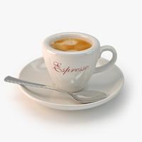 espresso cup 3d model