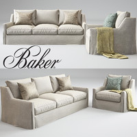 3d model tiburon lounge chair sofa