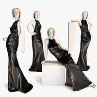 dress mannequin woman 3d max
