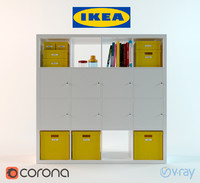 3d model of kallax shelf unit ikea