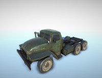 3d model low-poly ural-375