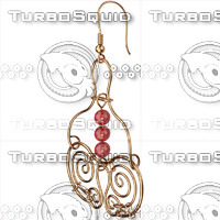 3d ring earrings model