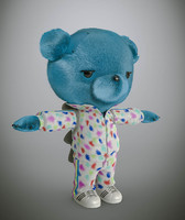 3d model bear cartoon