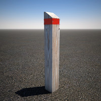 3d model wood post
