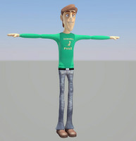 3d model cartoon boy young