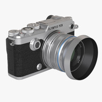 3d model photoreal mirrorless camera olympus