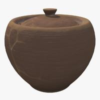 clay pot 3d max