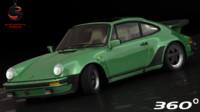 porsche 911 turbo 1981 3d dwg
