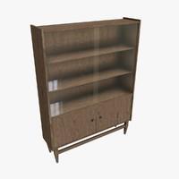 retro bookcase 3d model