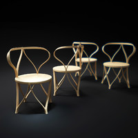 3d model tension-bentwood-chair