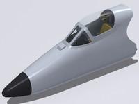 3d a-4m skyhawk cockpit model