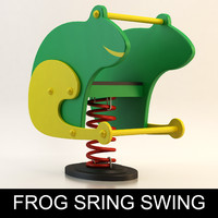 spring swing playground child 3d model