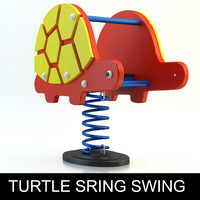 turtle spring swing playground 3d model