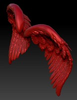 bird wings 3d obj
