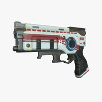 3d sci fi gun