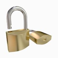 obj padlock lock pad
