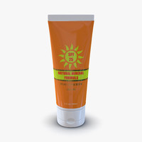 3d sunscreen tube generic model