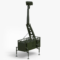 3d model giraffe amb radar