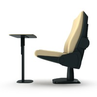 3d armchair conference armrests