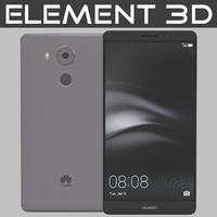 realistic element huawei mate 3d model