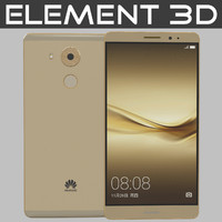 3d realistic element huawei mate