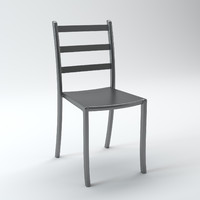 3d model acrylic chair