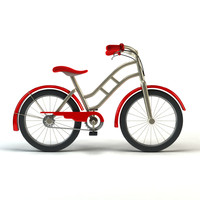 simple cartoon bicycle 3d model