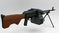 3d m84 machine gun model