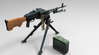 m84 machine gun tripod obj