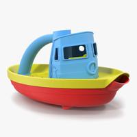 3d tugboat bath toy generic